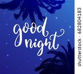 good night. wish before sleep ... | Shutterstock .eps vector #682804183