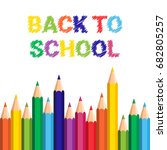 back to school poster colorful... | Shutterstock .eps vector #682805257