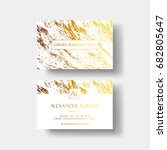 elegant business card with... | Shutterstock .eps vector #682805647