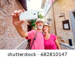 tourism and technology.... | Shutterstock . vector #682810147