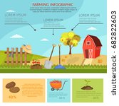 big set infographics vector... | Shutterstock .eps vector #682822603
