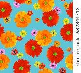 flower illustration pattern | Shutterstock . vector #682844713