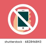 no cell phone  mobile phone...   Shutterstock .eps vector #682846843