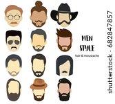 illustration man avatar... | Shutterstock .eps vector #682847857