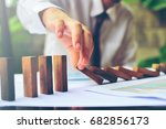 business control concept by... | Shutterstock . vector #682856173