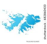 map of falkland islands | Shutterstock .eps vector #682860433