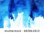 vector turquoise blue  indigo... | Shutterstock .eps vector #682861813