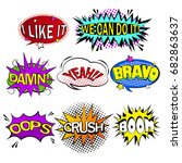 pop of cartoon speech bubble on ... | Shutterstock .eps vector #682863637