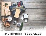 christmas background  ... | Shutterstock . vector #682872223