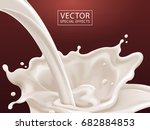 flowing milk liquid  white