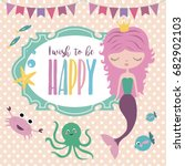 happy birthday invitation for... | Shutterstock .eps vector #682902103