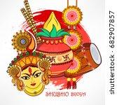 beautiful wallpaper design with ... | Shutterstock .eps vector #682907857