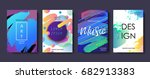 set of colorful minimal design... | Shutterstock .eps vector #682913383