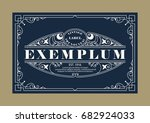 vintage elegant line art logo ... | Shutterstock .eps vector #682924033