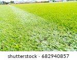 perfect green soccer pitch... | Shutterstock . vector #682940857