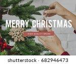 merry christmas enjoyment...   Shutterstock . vector #682946473