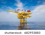 offshore oil and gas wellhead... | Shutterstock . vector #682953883