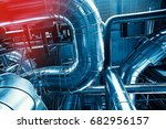 equipment  cables and piping as ... | Shutterstock . vector #682956157