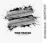 abstract grunge tire tracks... | Shutterstock .eps vector #682957657