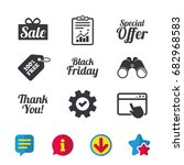 sale icons. special offer and...