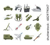 Icon Set Of Different Army...