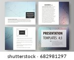 set of business templates for... | Shutterstock .eps vector #682981297