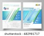 business templates for brochure ... | Shutterstock .eps vector #682981717