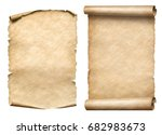 old paper scrolls or parchments ... | Shutterstock . vector #682983673