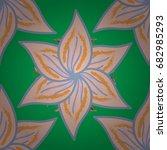 doodle flowers seamless pattern.... | Shutterstock .eps vector #682985293