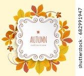 vector autumn background ... | Shutterstock .eps vector #682991947