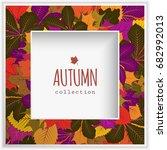 autumn background  cutout... | Shutterstock .eps vector #682992013