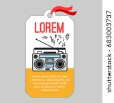 music tag or musical label or... | Shutterstock .eps vector #683003737