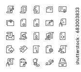 line vector icon set of... | Shutterstock .eps vector #683003833