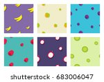 seamless fruit pattern... | Shutterstock .eps vector #683006047
