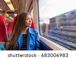 train woman leaving for work in ... | Shutterstock . vector #683006983