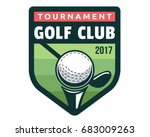 vintage golf badge logo... | Shutterstock .eps vector #683009263