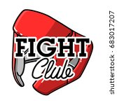 color vintage fight club emblem ... | Shutterstock . vector #683017207