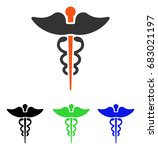 caduceus vector pictogram.... | Shutterstock .eps vector #683021197