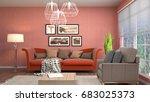interior living room. 3d... | Shutterstock . vector #683025373