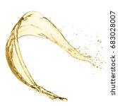 splash of white wine  isolated... | Shutterstock . vector #683028007