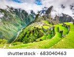 machu picchu  peru   ruins of... | Shutterstock . vector #683040463