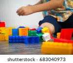 details of the toy construct on ... | Shutterstock . vector #683040973