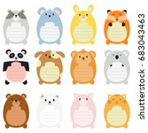 Cute Animal Memo Pads With Lines