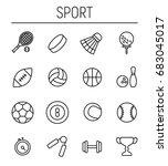set of sport icons in modern... | Shutterstock .eps vector #683045017