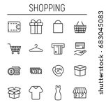 set of shopping icons in modern ... | Shutterstock .eps vector #683045083