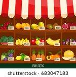 local fruits stall. fresh...   Shutterstock . vector #683047183