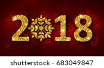 glitter background with golden... | Shutterstock .eps vector #683049847
