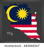 pahang malaysia map with... | Shutterstock .eps vector #683068267