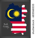 kuala lumpur malaysia map with... | Shutterstock .eps vector #683068333