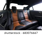 back passenger seats in modern... | Shutterstock . vector #683076667